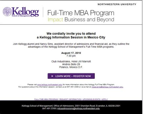Kellogg Mba Info Session by Alma Mater