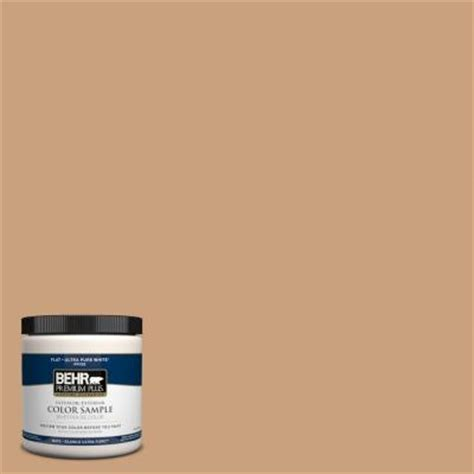behr premium plus 8 oz 270f 4 peanut butter interior exterior paint sle 270f 4pp the home
