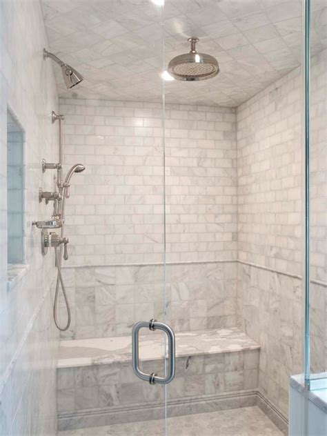 marble and subway tile bathroom calcutta gold marble transitional bathroom papyrus
