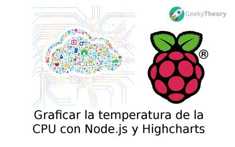 Highcharts Tutorial Node Js | raspberry pi graficar la temperatura de la cpu con node