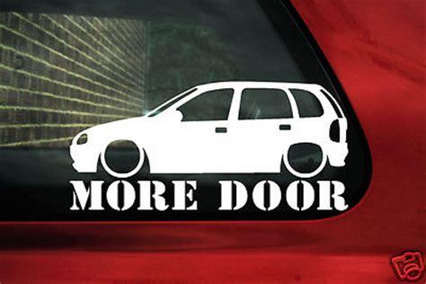 Porsche 5 T Rer by Auto Aufkleber Opel Corsa B 5 T Rer More Door Sticker