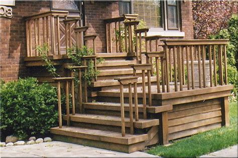 Back Porch Stairs Design Front Entrance Wooden Steps Steep Porches Decks Patios Delta C Construction Inc Step