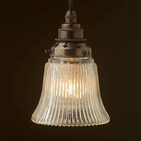 glass pendant l shades holophane bell glass light shade pendant