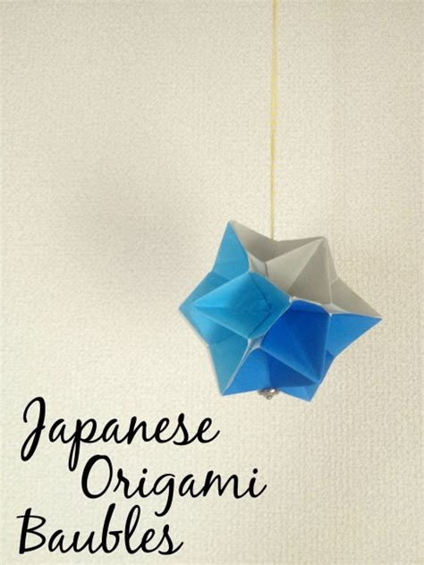 Origami Paper Japan - japanese origami baubles and sew we craft