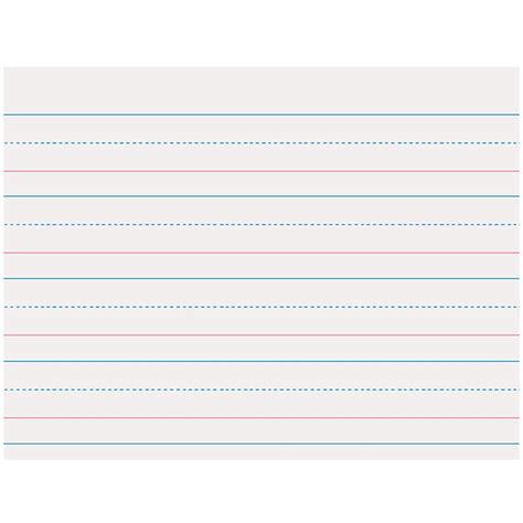 zaner bloser writing paper printable zaner bloser 1 1 8in ruled sulphite paper gr k paczp2410