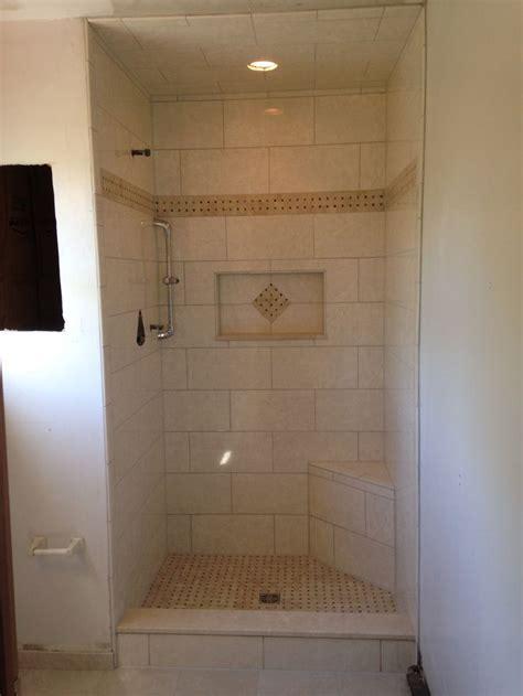 master bath stand  shower niche shower bench