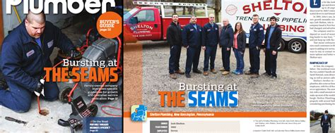 Plumbing Magazines by Shelton Plumbing Makes Front Cover Of Plumber Magazine