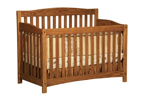 Crib Depth by Town Oak Monterey Crib Three Furnishings