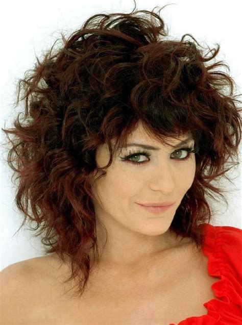 photos of shag style haircuts for curly hair sensational medium length curly hairstyle for thick hair