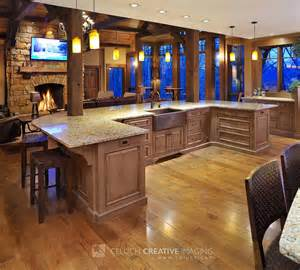 Kitchen Island With Seating Area Mullet Cabinet Rustic Hideout In The Woods