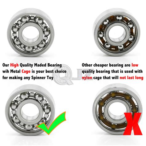 Fidget Spinner Spinner Metal Segi 3 Kaki Bearing 10x 608 open stainless steel 22x8x7mm fidget spinner bearing enhancement new ebay