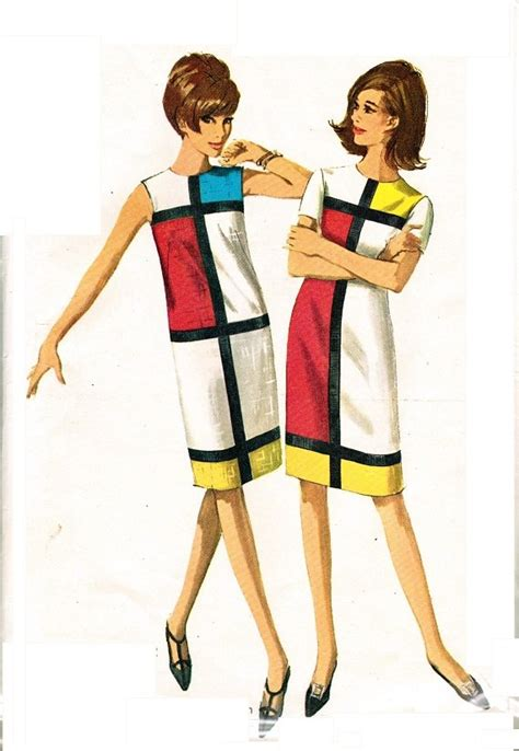 Sixties Home Decor Simplicity 6400 Uncut Mod 60s Mondrian Amp Ysl Inspired