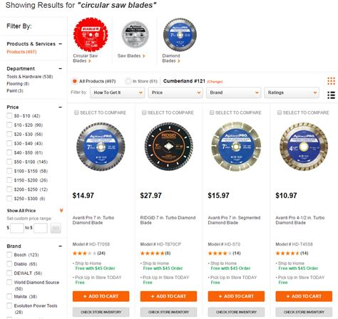 home depot search results ecommerceandb2b