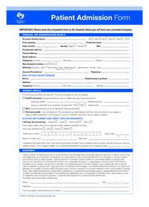 Patient Admission Letter Hospital Admission Forms Images