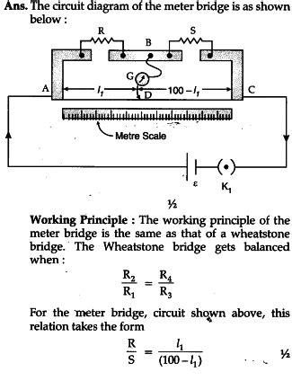 Meter Bridge Circuit Diagram