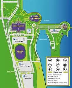 Chicago Museums Map by Museum Campus