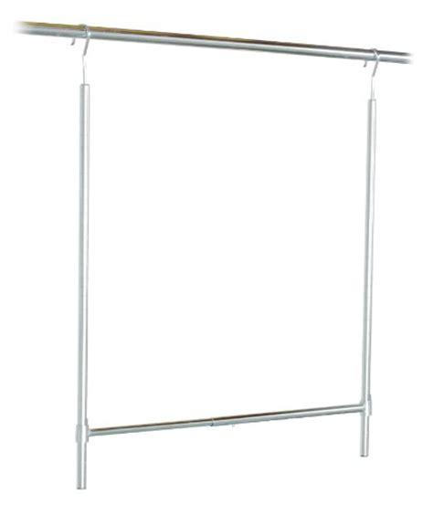 Adjustable Height Closet Rod by Decobros Adjustable Hanging Closet Rod Chrome