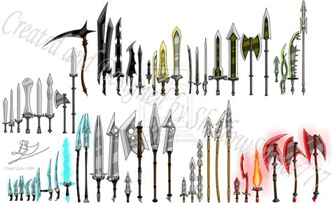 Of weapons 97720042 a beautiful selection of different melee weapons