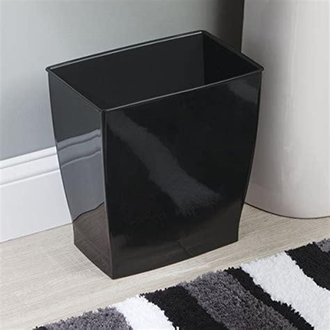 mdesign rectangular trash  wastebasket small garbage container bin  bathrooms powder