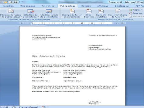 Exemple De Lettre Type Publipostage Cr 233 Er Une Base De Donn 233 Es Excel Pour Faire Un Publipostage Avec Word Cours D Excel Et Astuces