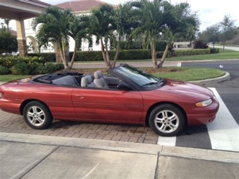 1997 chrysler sebring convertible for sale buy used 1997 chrysler sebring jxi convertible 2 5l auto