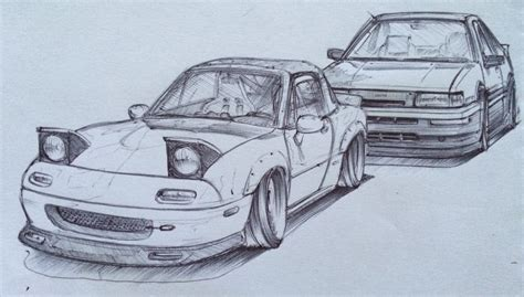miata drawing sketch miata vs levin wip by tougedrifting85 on