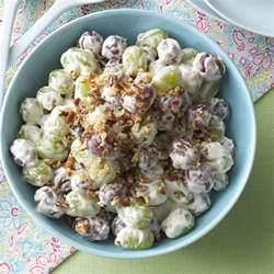 salad recipes creamy grape salad recipe taste of home