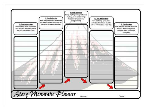 story mountain planner by vanadesse teaching resources tes