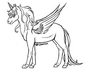 alicorn coloring pages alicorn base by queenen on deviantart