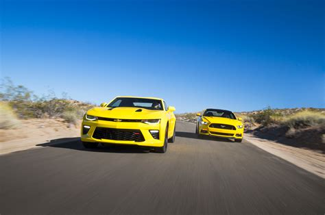 chevy camaro rs vs ss 2016 chevrolet camaro ss vs 2016 ford mustang gt 2