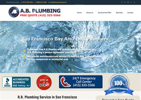 Holbrook Plumbing by 100 Plumbing Websites For Design Inspiration