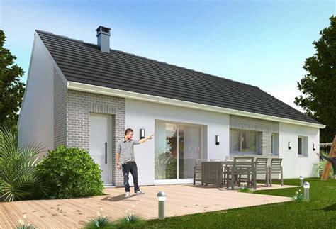 simple rendu de la maison habitat concept with modele maison plain pied