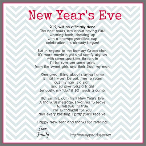 poem on new year ramsay grace december 2012