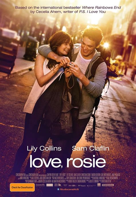 love rosie where rainbows new love rosie australian poster with lily collins and sam claflin
