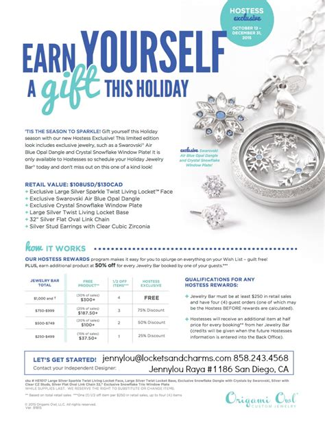 Hostess Exclusive Origami Owl - origami owl is free jewelry host origami owl