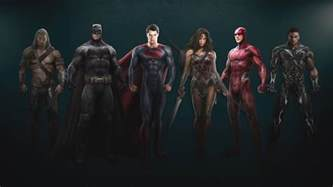 The whole superhero team gets suited up in new justice