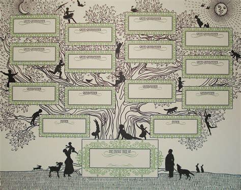 decorative family tree template catbird june 2012