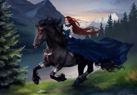 animalismo mujer folia con caballo tattoo aomori