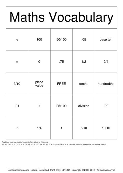 math bingo card template math bingo cards pdf printable bingo cards crafthubsmath
