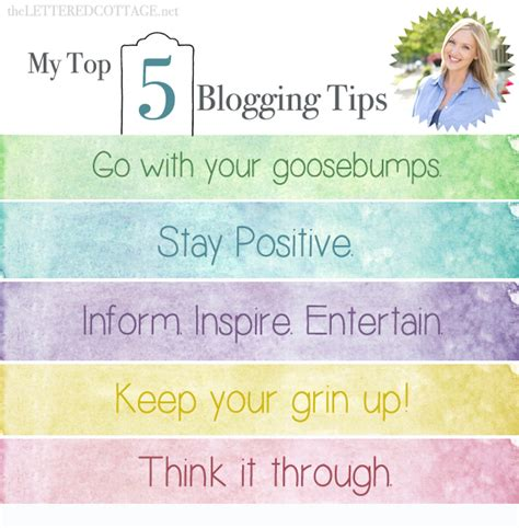blogger guide my top 5 blogging tips the lettered cottage