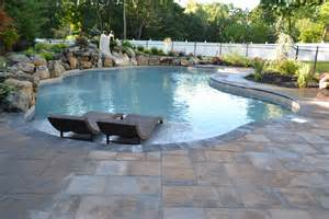 in ground pool with spillover spa there s more than one