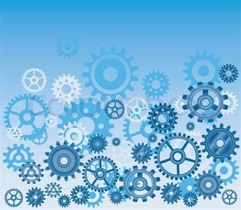 Best Wallpaper Home Decor Vector Gears Background In Blue Technical Mechanical