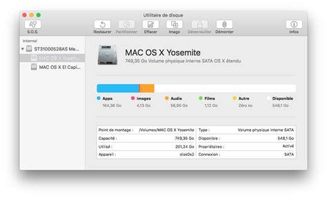format exfat yosemite utilitaire de disque el capitan mac osx 10 11 macplanete