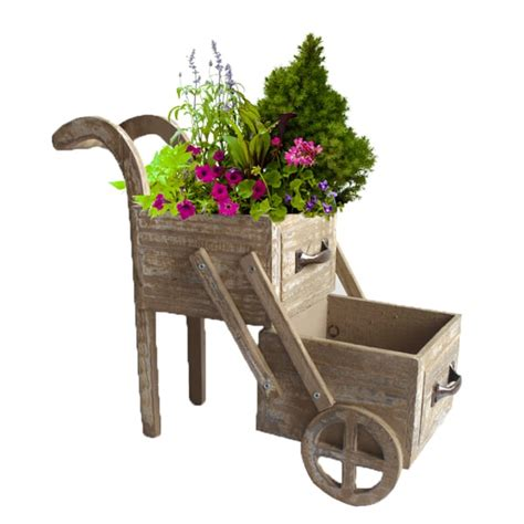 double tier wood planter cart free shipping on orders