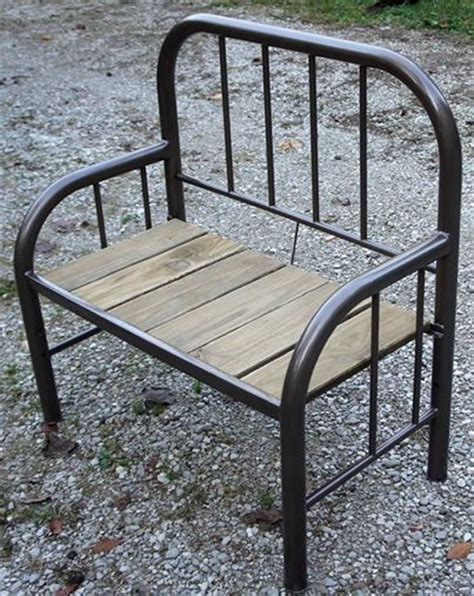iron bed bench iron bed bench in hammered bronze paint school ideas