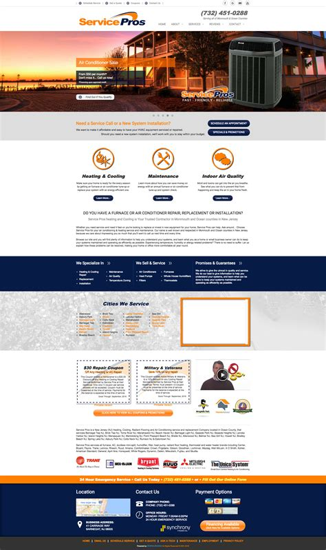 Pin By Online Access Inc On Contemporary Websites Website Website Template Design Heating And Air Conditioning Website Templates
