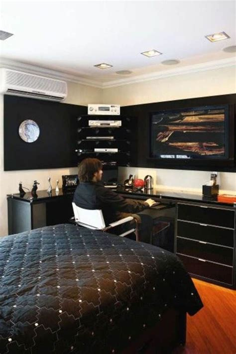 cool room ideas for college guys black white wrapped young men s bedroom on pinterest young mans bedroom men