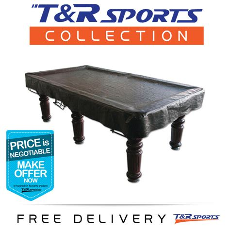 quality pool snooker billiard table cover fitted heavy duty vinyl ft black ebay