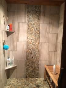 12x24 Tile In A Small Bathroom Tile Shower Waterfall