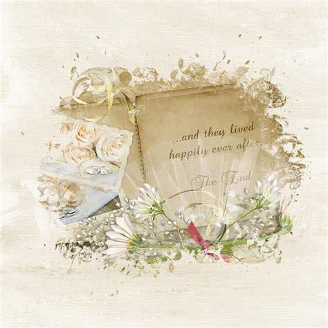 Vintage Wedding Album Design by Vintage Wedding Scrapbook Stock Illustration Illustration